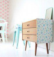Décorer ses placards avec du papier peint - Marie Claire Maison