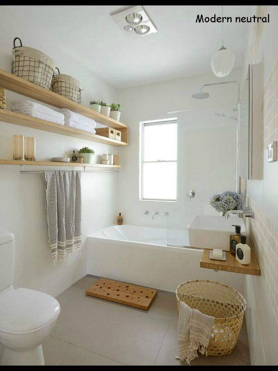 Keep your bathroom tidy and clutter-free with baskets.