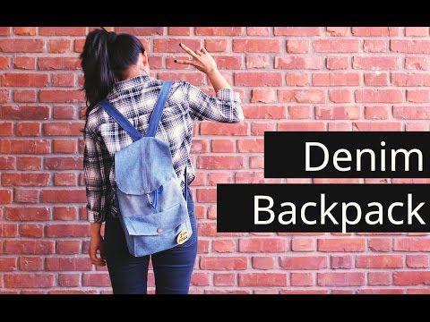 DIY denim backpack// Reconstruct old denims - YouTube