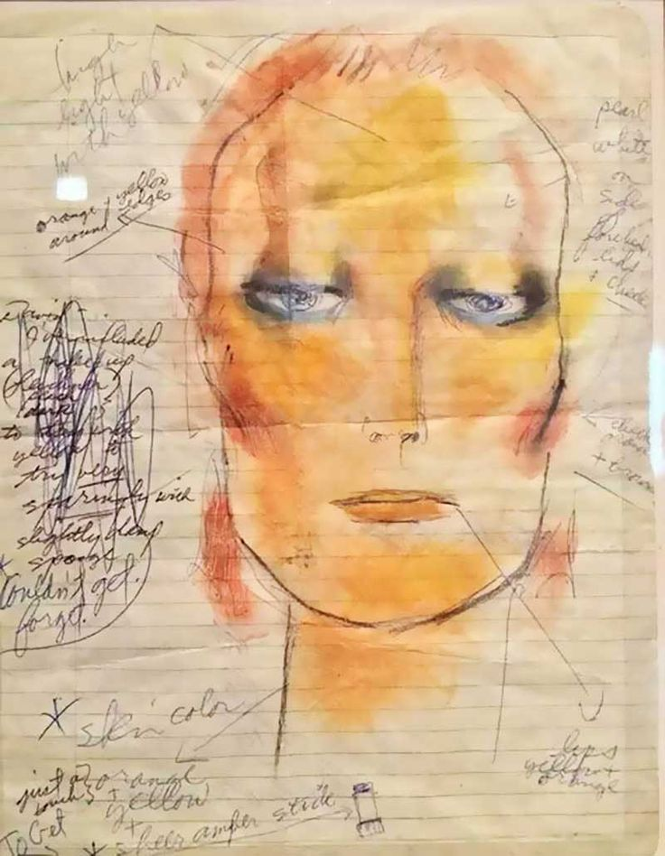 allthenobodyppl:    David Bowies art at Very Private Gallery part 3  Part 1.  Part 2.  Source.