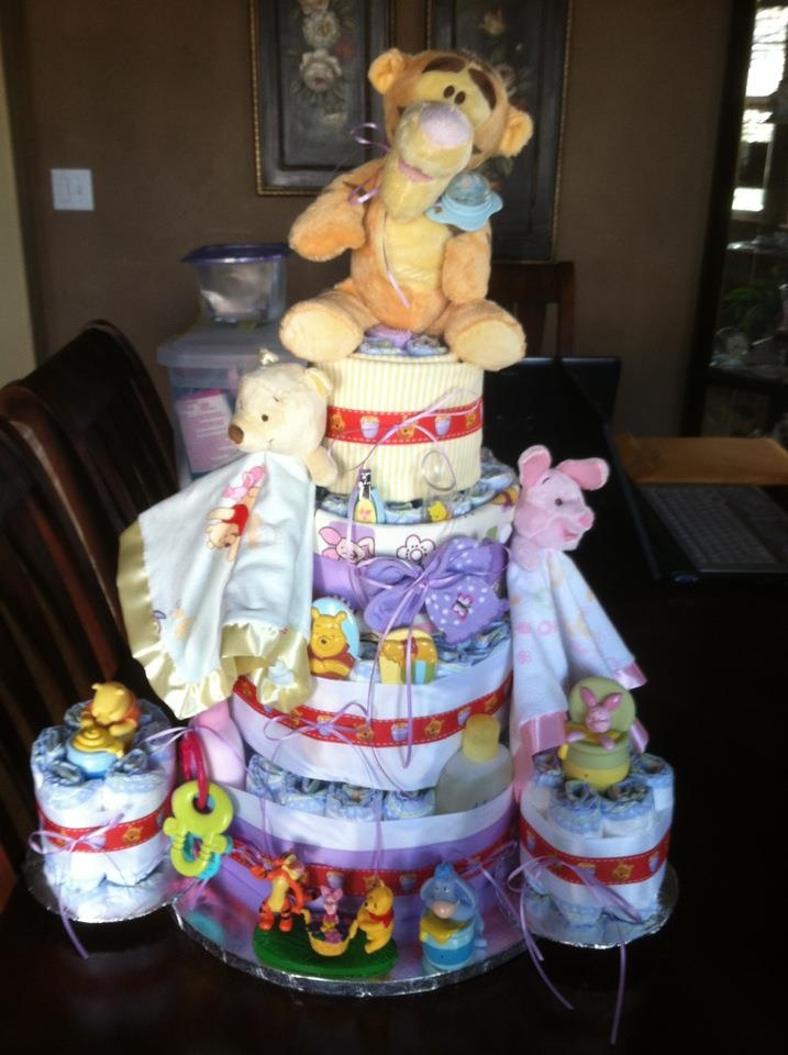 Baby Girl Winnie The Pooh Diaper Cake Diaper Cakes For