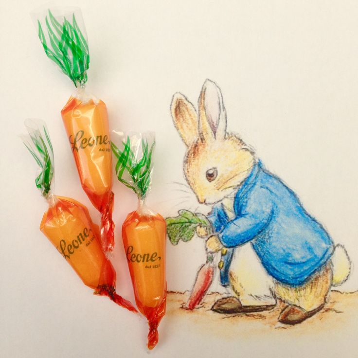 Carrots' sweets. Pastiglie Leone