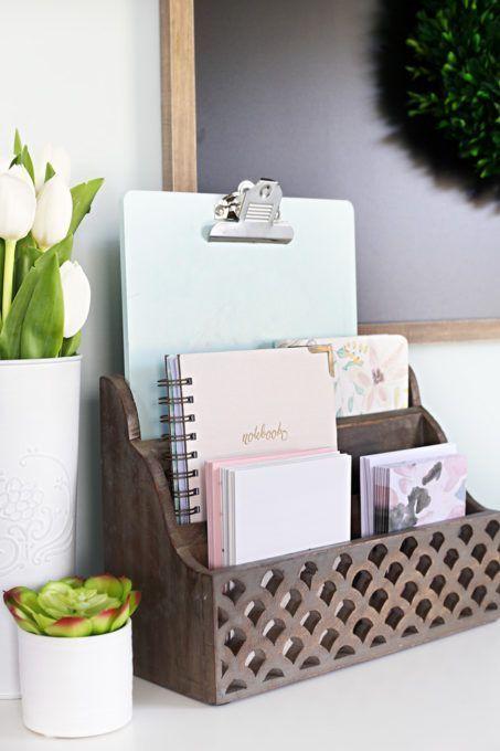 Home Cozy Office Nook Feminine Organized Small