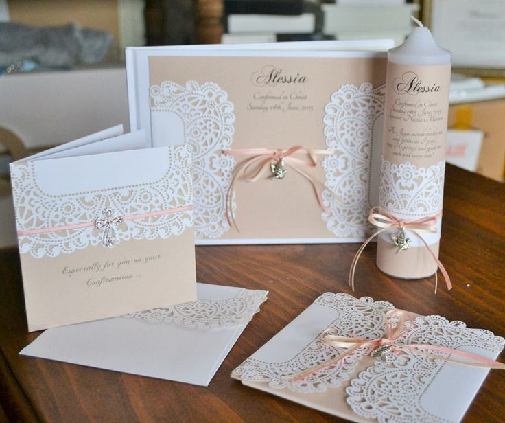 ALESSIA SET - invite, candle, guest book and greeting card.