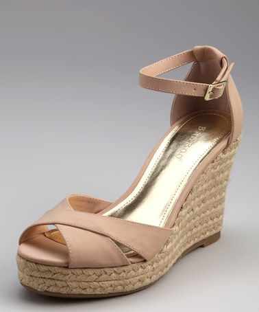 Take a look at this Nude Patent Lexi Espadrille by Bamboo on #zulily today!