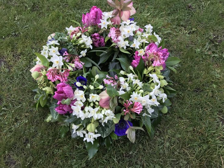Wreath ring, wedding table decoration. Centre piece, Spring, all British flowers, Beautifully scented. Viburnum,paper whites,tulips, hellebores .