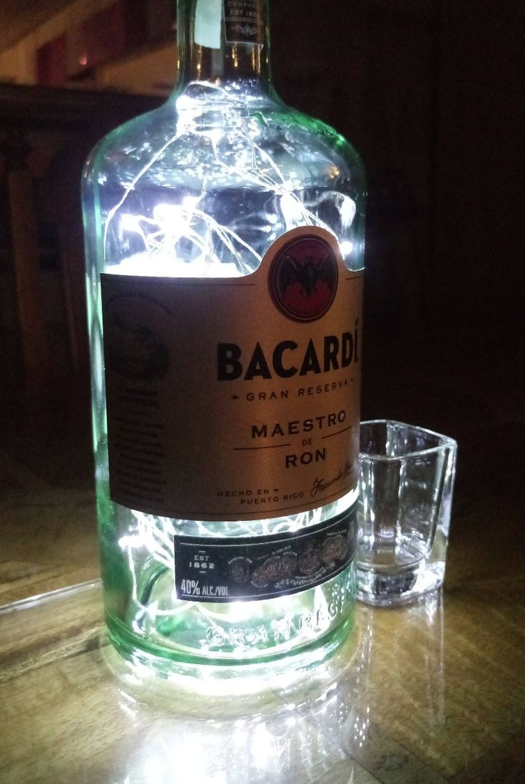 Excited to share the latest addition to our #etsy shop: Bacardi Gran Reserva Bottle Light. Upcycled Bottle Lamp. Perfect Mood Lighting Gift For Women & Boyfriend Gift For Men. Upcycled Lighting. #bacardigranreserva #bottlelight #upcycledbottle http://etsy.me/2ibpHRw