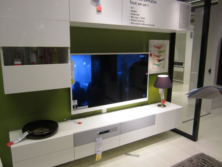 Meuble ikea tv suspendu uppleva salon pinterest salons - Ikea salon meuble ...