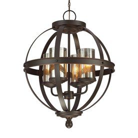Sea Gull Lighting Sfera 4-Light Autumn Bronze Novelty Chandelier $325.90.  Item #: 607421    Model #: 3110404-715.   http://www.lowes.com/ProductDisplay?partNumber=607421-19453-3110404-715&langId=-1&storeId=10151&productId=50275303&catalogId=10051&cmRelshp=req&rel=nofollow&cId=PDIO1