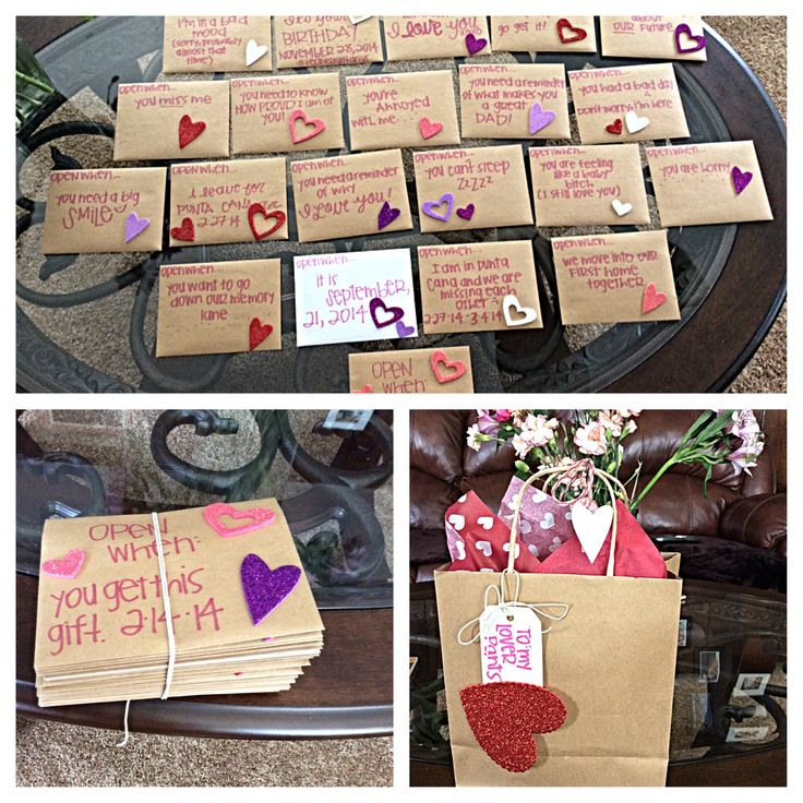 Valentines for him Open when love letters