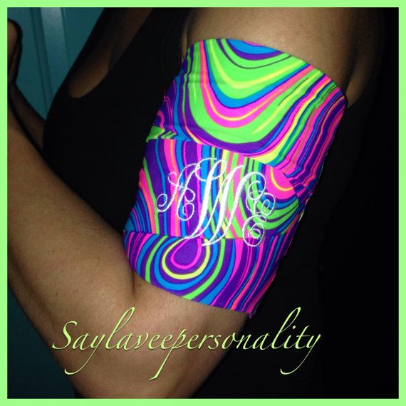 Jogging stretch armband to hold phone, music  and keys by SayLaVeePersonality, $19.99