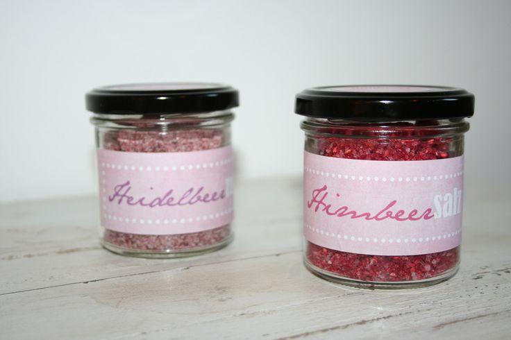 Heidelbeer-Zucker & Himbeer-Salz