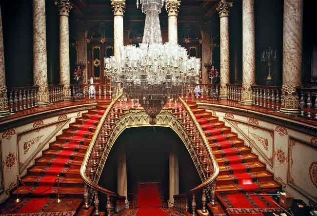 lnside of Dolmabahce Palace.