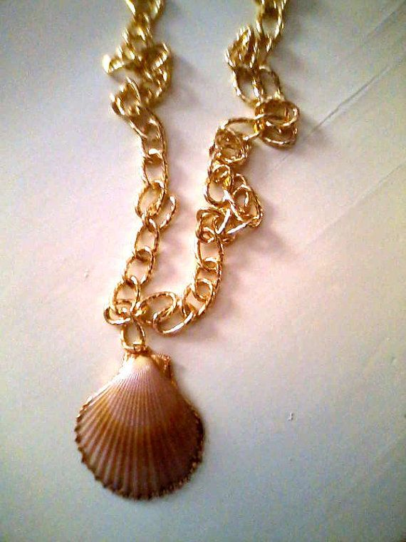 Shell long necklace/ collection 2013 / made by KaterinakiJewelry, $12.00
