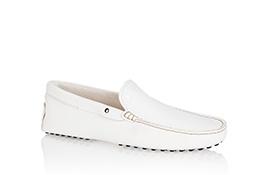 tod's white driving shoe, men