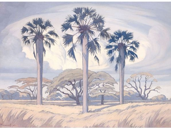 Jacob Hendrik Pierneef; Palm Trees near Trichardsdal