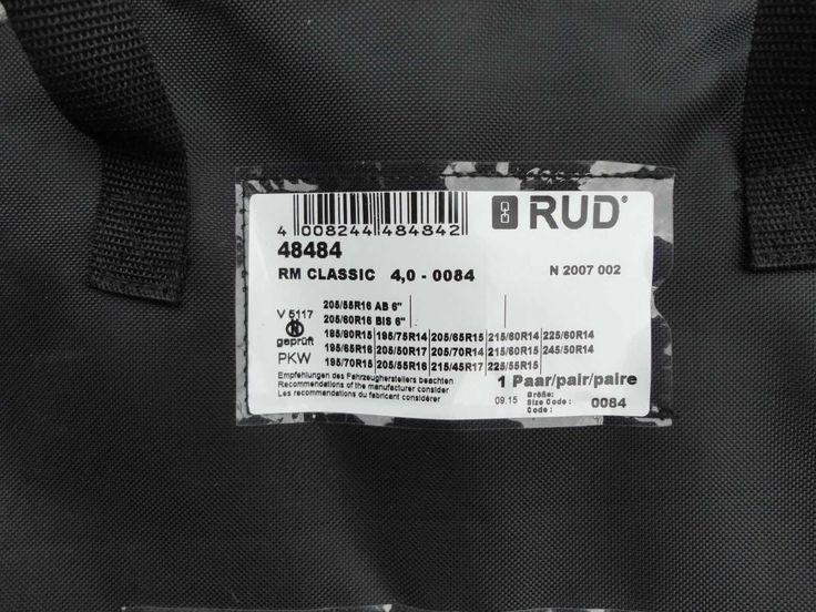 Neue Schneeketten der Firma Rud für  1er BMW