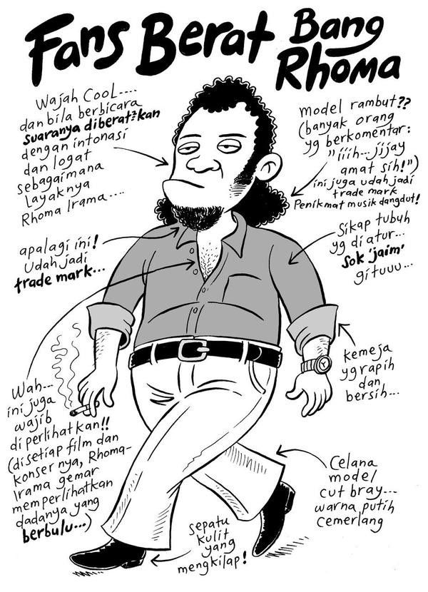 Mice Cartoon, 100 Tokoh Mewarnai Jakarta - 2008: Fans Berat Bang Rhoma