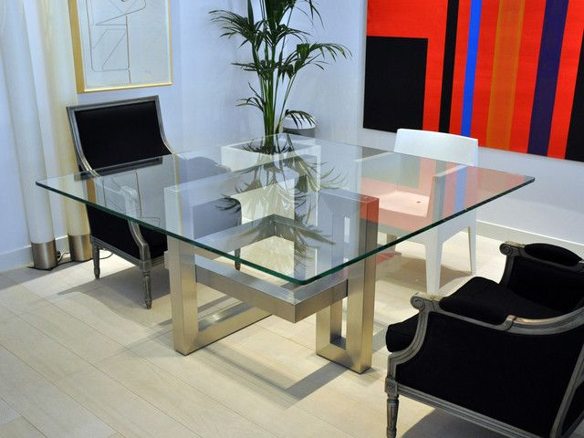 Dining Room Moderno Comedor Intended For Modern Square Table Ideas