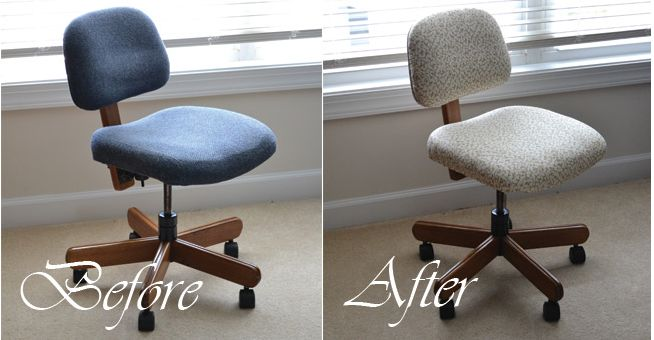 Sweetwater Style: I Did It-Recovered An Ugly Office Chair!