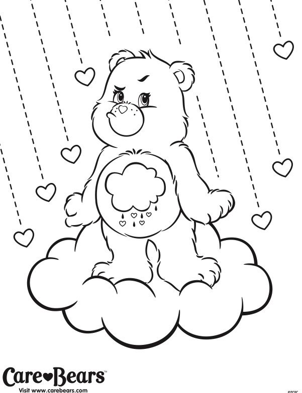 coloring pages of grumpy bear - photo#17