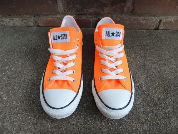 Bright Orange Converse Chuck Taylor All Star by OanaVintageCorner