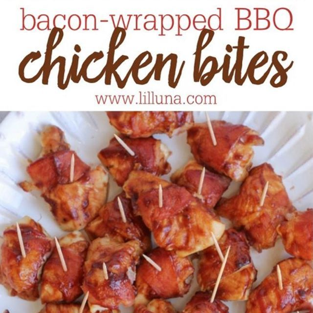 We found this awesome recipe on @Pinterest! We love finding snacks, etc. for our beauties to test out! What's your favorite recipe? We want to know, and we want to try it out!🍖🍗🥓 . BBQ Chicken Bites: Meat: 8 oz Bacon 2 Chicken breasts, boneless skinless Condiments: 1/2 cup Bbq sauce Other: Toothpicks . . . . #heathyliving #nutritious #freshfoods #foodporn #healthydinner #cleaneats #foodie #recipe #mealidea #delicious #myplate #kitchenlife #inthekitchen #homemade #Pinterest…