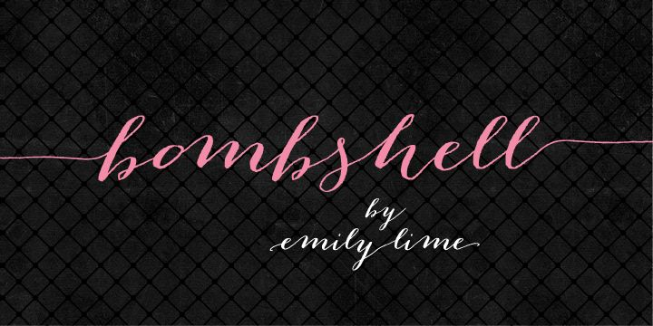 """Nice to have two sizes of """"Ls"""" in a cursive font. Bombshell Pro - Webfont & Desktop font « MyFonts"""