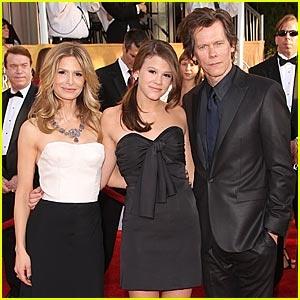 Kevin Bacon, Kyra Sedgwick, and Sosie Bacon -