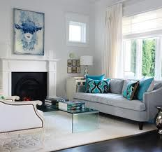 Captivating Grey Couch And Teal Accents. White Carpet With Silver Accents Part 11