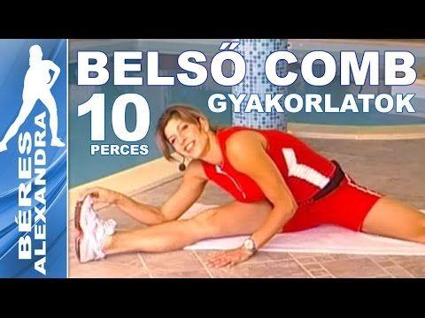 Béres Alexandra torna || Belső combizom gyakorlatok  || 10 perc - YouTube