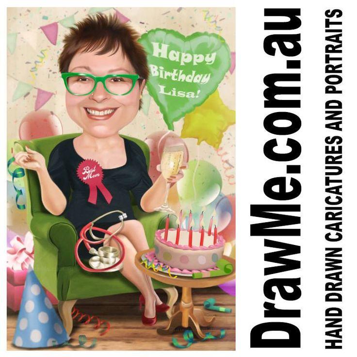#birthday caricatures from www.DrawMe.com.au