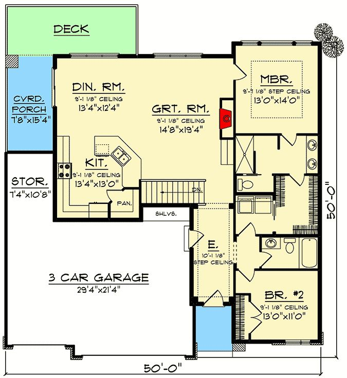Plan 890097ah Modern One Level House Plan With 3 Car Garage One Level House Plans House Plans Vacation House Plans Open concept house plans with garage in back