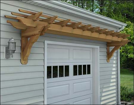 Red Cedar Eyebrow Pergolas Pergola Wall Mounted Pergola