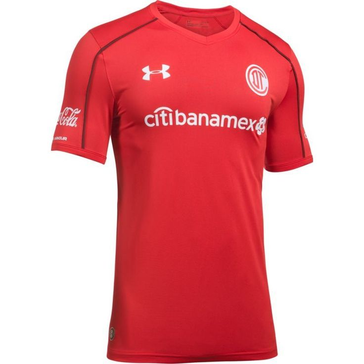 Under Armour Men's Deportivo Toluca FC 17/18 Home Stadium Jersey, Size: Medium, Multi