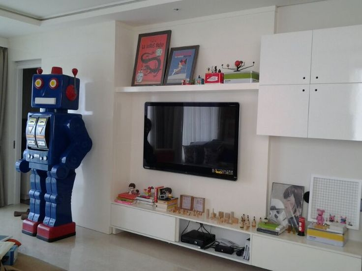 The living room with Robot Gedek, Permata Hijau Residence Apartment, Jakarta