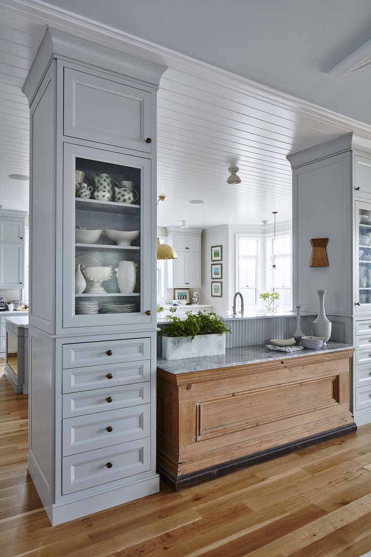 "Kitchen with a buffet space designed by Sarah Richardson as seen on HGTV's ""Off the Grid."" Photo by Stacey Brandford (via HGTV)."