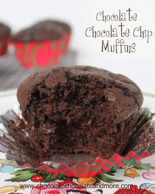 The Ultimate Chocolate Chocolate Chip Muffin from @chocolatechocolateandmore #muffin #chocolate