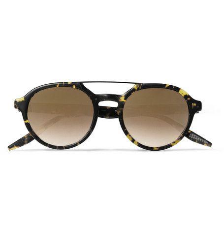Barton PerreiraBailey Round-Frame Acetate and Metal Sunglasses