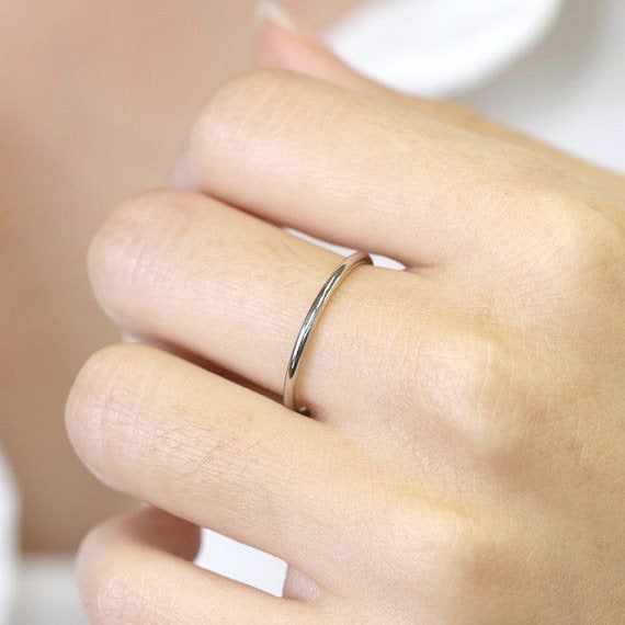 1 3mm Plain Wedding Band Dainty Promise Ring 14k Solid Etsy Rose Gold Engagement Ring Vintage Thin Wedding Ring Plain Wedding Band