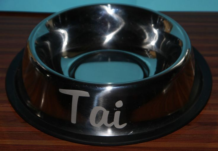 Personalised Stainless Steel Pet Dish suitable for medium to large Dog UK supply