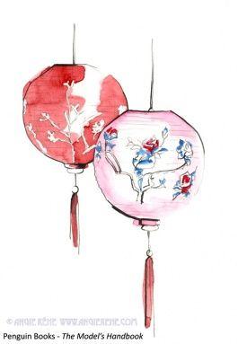 Chinese Lantern Drawings