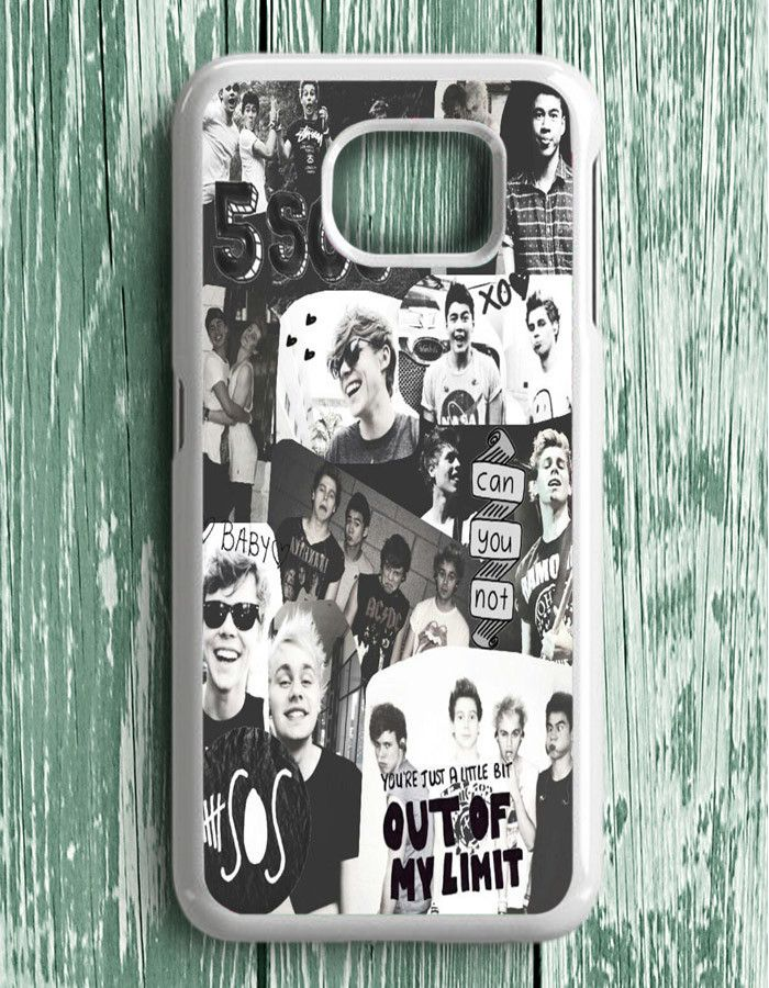 5 Second Of Summer Collage Black And White Samsung Galaxy S6 Edge Plus   Samsung S6 Edge Plus Case