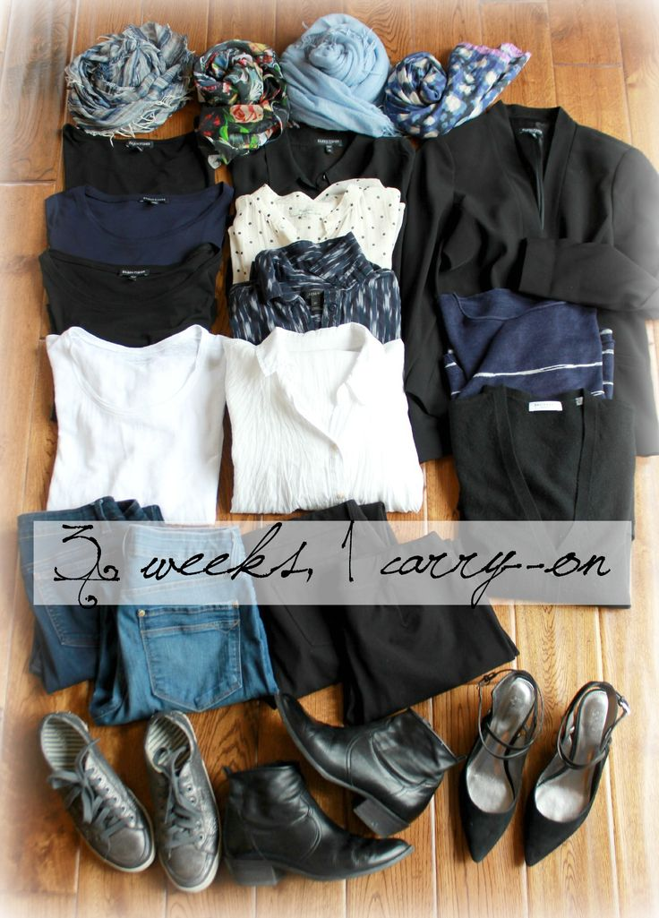 3 week Europe travel wardrobe... looks suberbly similar to what I'm planning on packing for a month in Italy <3