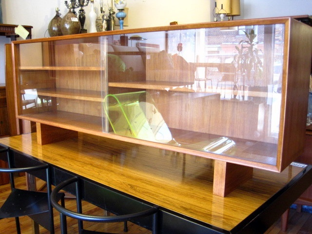 beautiful vintage teak and glass bookcase we bought this from guff local leslieville