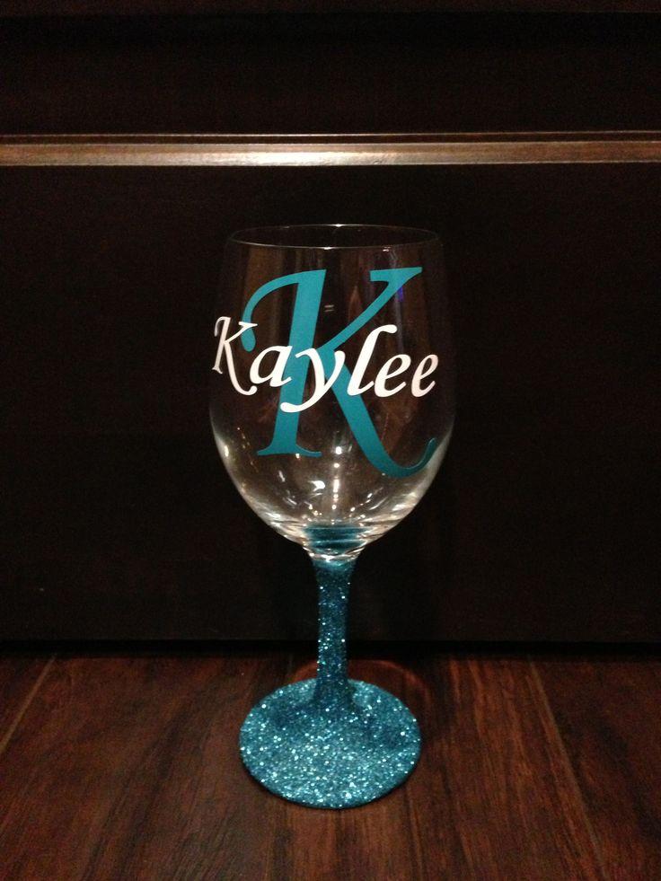 Glitter Wine Glass http://www.etsy.com/shop/TerisSignsandSuch?ref=search_shop_redirect