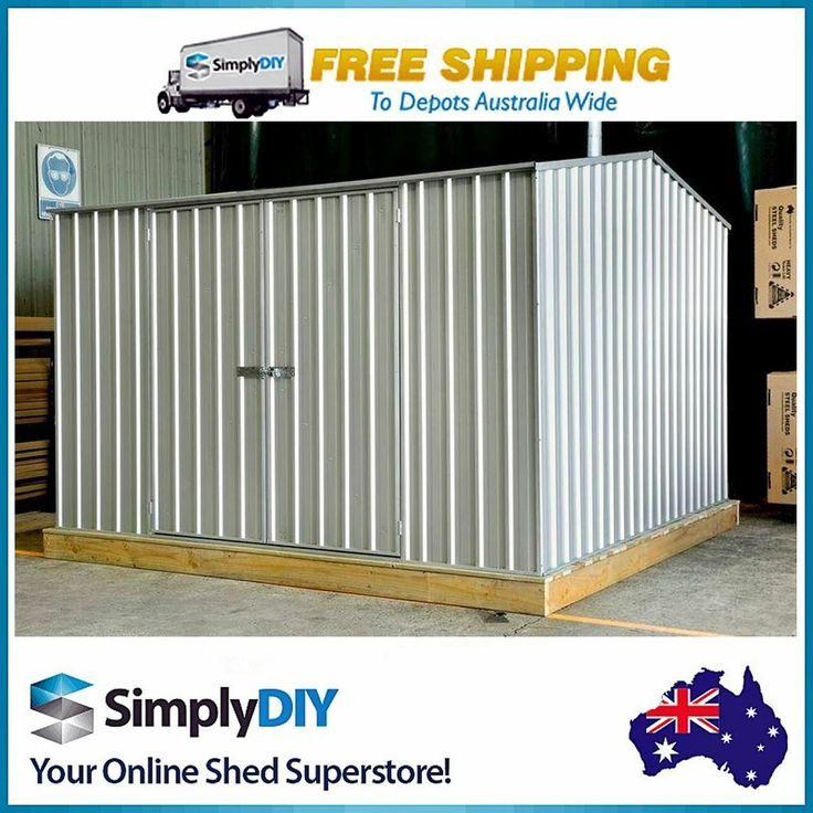 absco garden shed 3m x 3m zincalume with ozkit timber flooring