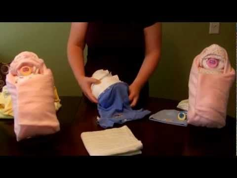 "How to make a diaper ""Swaddle Baby"" (Diaper Cake)"