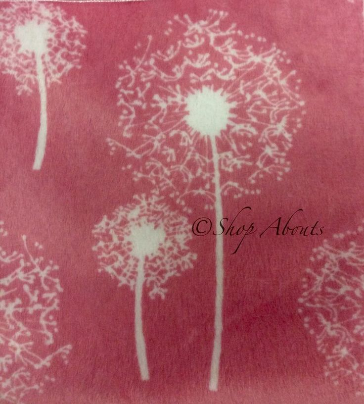 "Baby Girl Blanket Marlo Lorenz Thro Pink Stroller Crib Throw Dandelion 30""x40"" in Baby, Nursery Bedding, Blankets & Throws | eBay"
