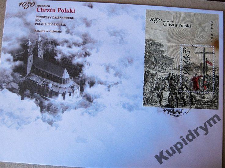 1050 rocznica Chrztu Polski - Koperta FDC